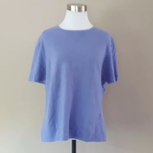 CASHMERE Sweater Large Periwinkle Blue